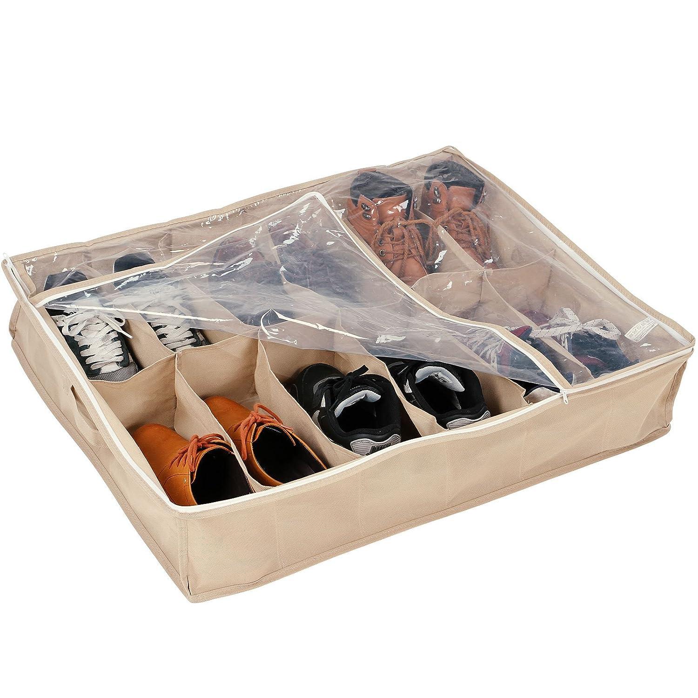 axentia Stiefel Aufbewahrungsbox 2er Set, Schuhbox