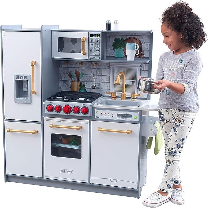 Kinderholzküchen mit Funktionen - KidKraft Uptown Elite White Spielküche