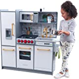 KidKraft- Cocina de madera de juguete Uptown Elite para niños con tres modos de juego y funciones prácticas , Color…