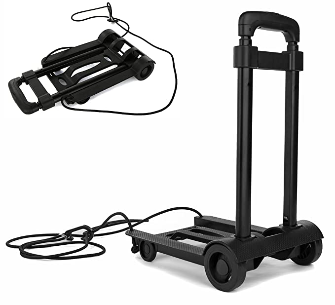 be574eb2c610 Folding Compact Lightweight Durable Luggage Cart Travel Trolley   Quiet  Wheeling Sports & Medical Equipment Carrier