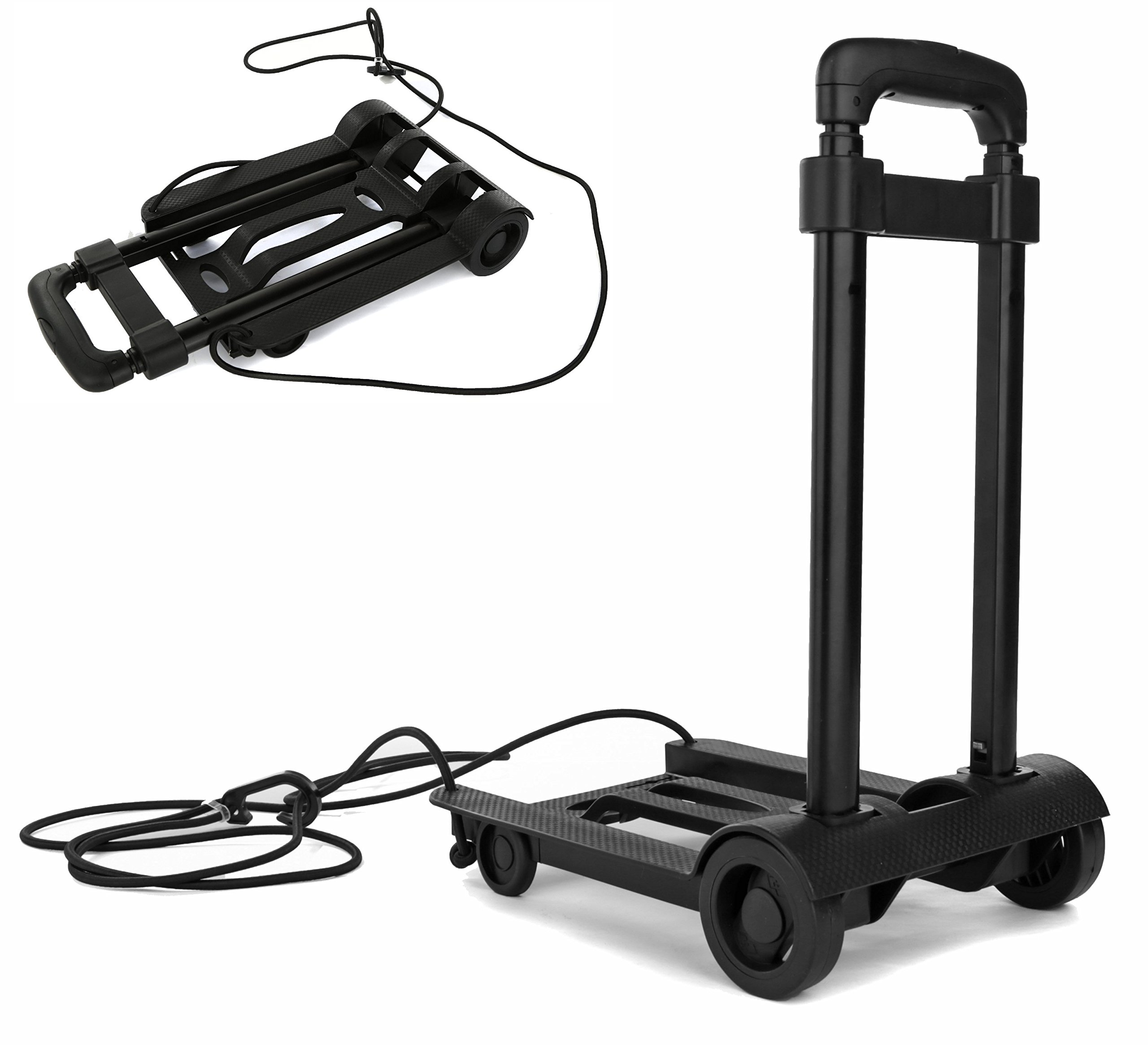Folding Compact Lightweight Premium Durable Luggage Cart - Travel Trolley - Multi Use …