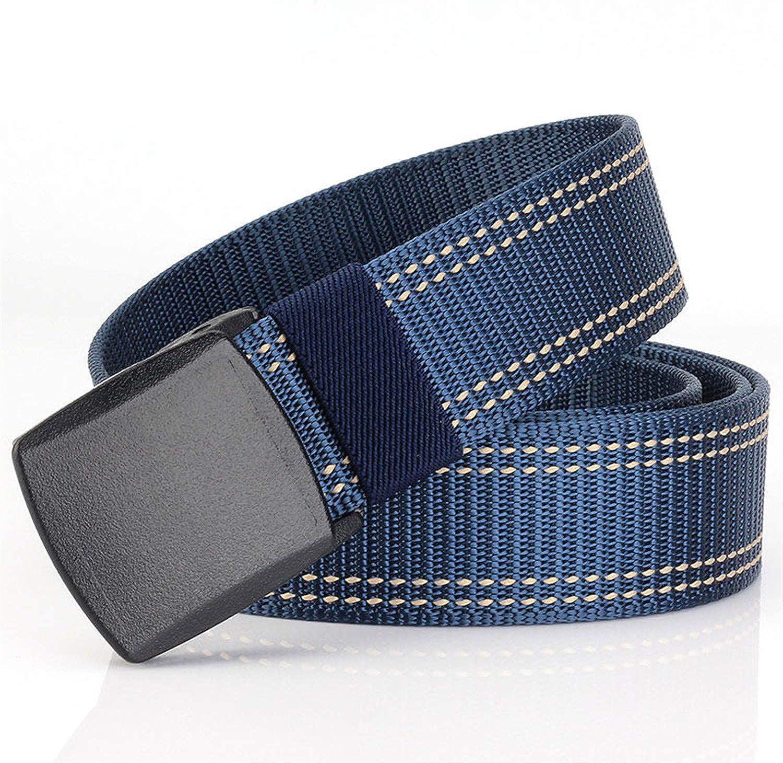 Pajamasea Plastic Buckle Nylon Belt Male Army Tactical Belt MenS Waist Canvas Belts