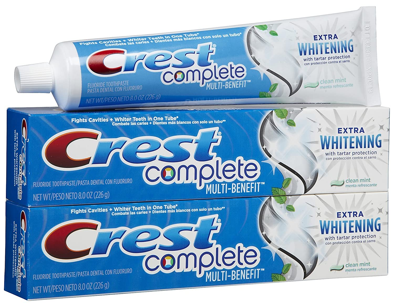 Amazon.com: Crest Extra Whitening Toothpaste - 8 oz - 2 pk: Health & Personal Care
