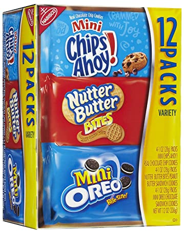 amazon com nabisco cookies chips ahoy nutter butter oreo minis
