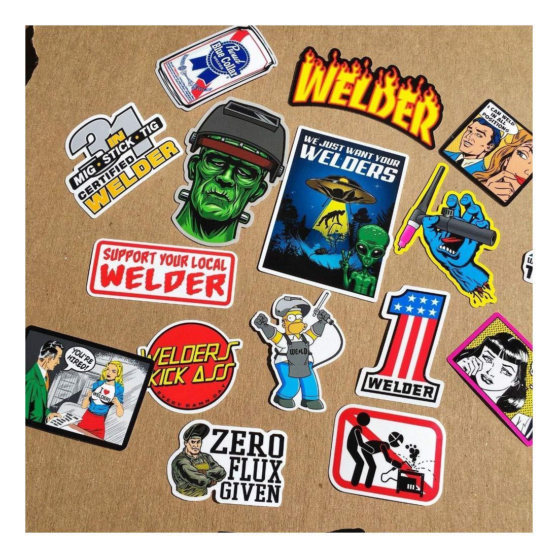 New Welder 40+ Hard Hat Stickers Hardhat Sticker & Decals, Welding Helmet, Hood by Unknown (Image #3)