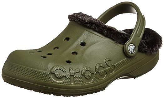 Crocs Unisex Baya Heathered Lined Clog Army Green/Black Clog/Mule Men's 8,