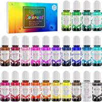 24 Color Epoxy UV Resin Pigment - Crystal Transparent Epoxy Resin Dye for UV Resin Coloring, DIY Resin Art Jewelry…