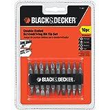 Black & Decker 71-081 Double Ended Screwdriving Bit Set, 10-Piece