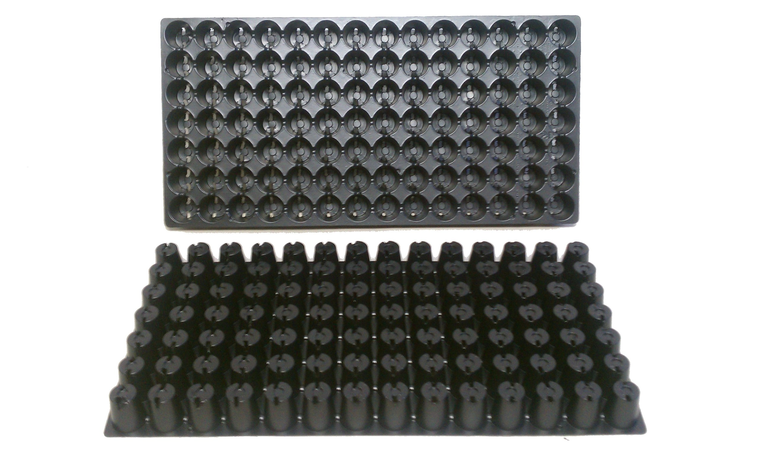100 Plastic Seed Starting Trays - Each Tray Has 98 Cells ~ Cells Are 1 1/4'' Round X 1 1/2'' Deep. Great Propagation Trays - Full Case