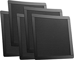 140mm Fan Dust Filter Mesh Magnetic Frame PVC Computer PC Case Fan Dust Proof Filter Cover Grills Black 5-Pack