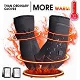 Winter Electric Heated Gloves with Rechargeable Li-ion Battery, Waterproof Insulated Heating Driving Gloves, Thermal Arthritic Gloves for Men and Women
