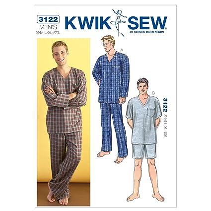 Kwik Sew 3122 - Patrones de costura para confeccionar pijamas de hombre (tallas S a
