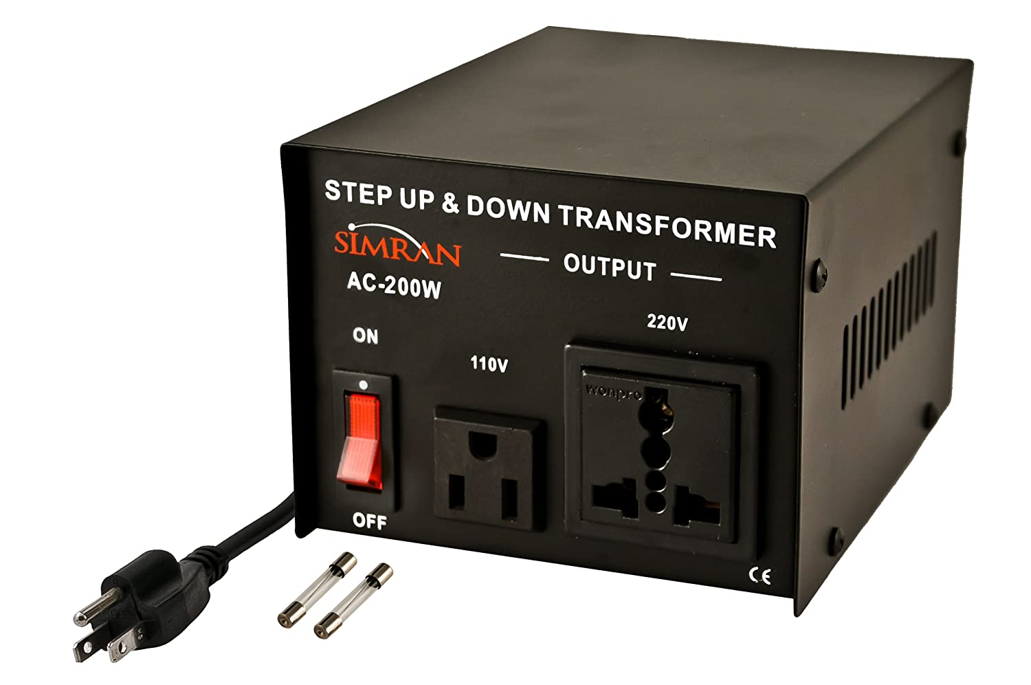 simran ac 750 voltage power converter step up down transformer 110 simran ac 750 voltage power converter step up down transformer 110 volt 220 volt 750 watt black electrical boxes amazon com