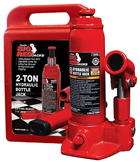 cebc1e47867 Amazon.com  Torin Big Red Hydraulic Bottle Jack with Carrying Case ...