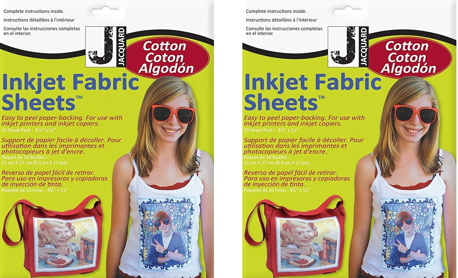 Jacquard Ink Jet Fabric 8.5'' x 11'' Cotton Sheets (10 Pack) JACQUARD PRODUCTS JAC9701