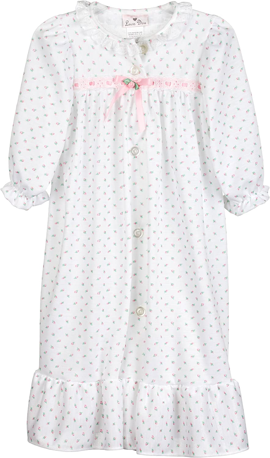 Laura Dare Little Girls Blue Pink Dancer Print Long Sleeved Nightgown 2T-6X