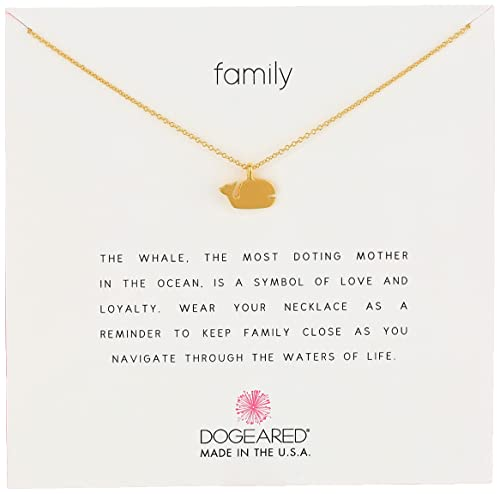 "Dogeared Jewels & Gifts ""Reminder"" Gold Family Whale Charm Necklace: Amazon.ca: Jewelry"