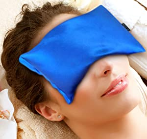 Karmick Hot Cold Eye Mask, Blue, Lavender and Flax Seed Filled