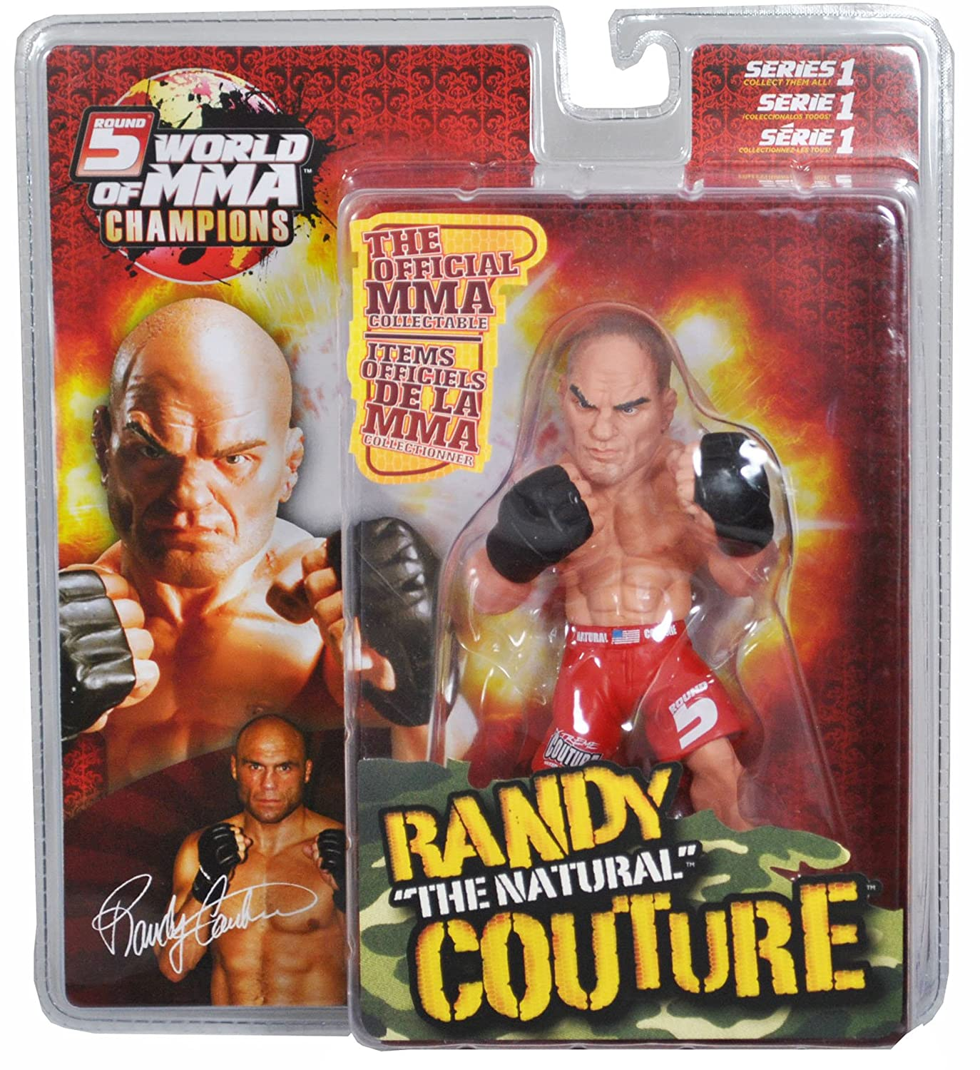 Year 2007 Series 1 Round 5 World of MMA Champions 6 Inch Tall Action Figure - RANDY
