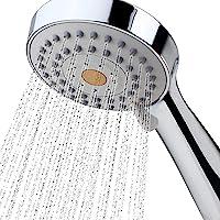 High Pressure Handheld Shower Head with Powerful Shower Spray against Low Pressure Water Supply Pipeline, Multi-functions, w/ 79'' Hose, Bracket, Flow Regulator, Chrome