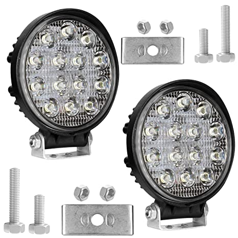 Off Driving PCS for AllExtreme Lamp Car Inches EX14RW2 Light2 Waterproof Road LED Fog 14 Round Motorcycle42WWhite 4 and Light mnw80N