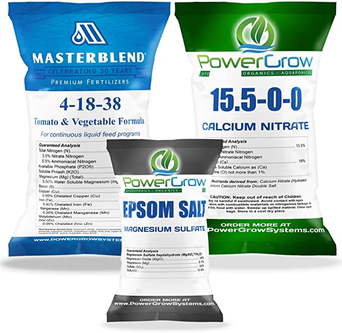 MasterBlend 4-18-38 Complete Combo Kit Fertilizer-Best Solid Hydroponics Nutrient