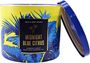 White Barn Bath and Body Works Midnight Blue Citrus 3 Wick Scented Candle 14.5 Ounce