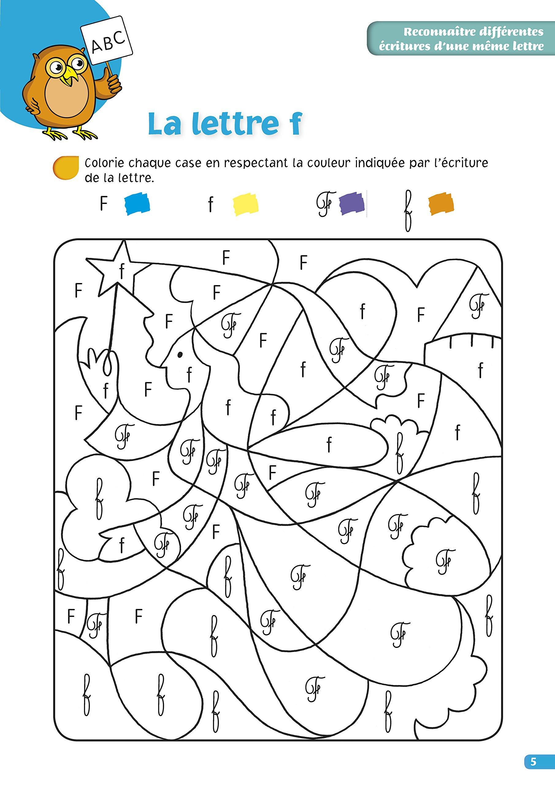 Amazonfr Chouette Coloriages Magiques Lettres Et Chiffres