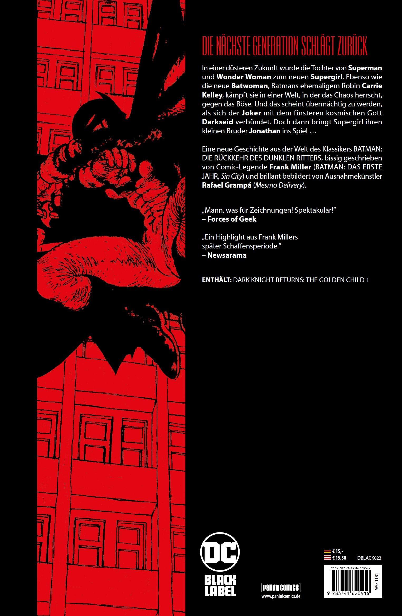 Batman: Das Goldene Kind: Amazon.es: Miller, Frank, Grampá, Rafael, Hidalgo, Carolin: Libros en idiomas extranjeros