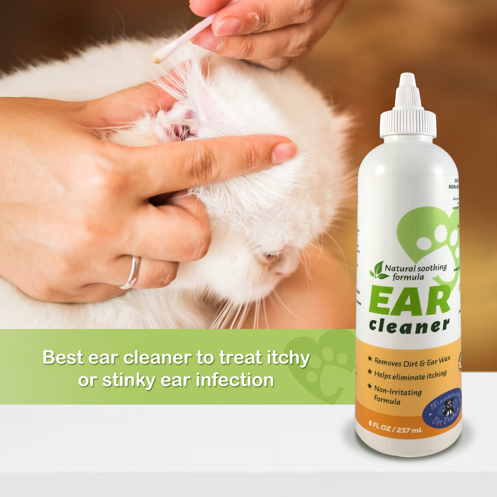 Mountainview Pet Products All Natural Ear Cleaner for Dogs or Cats with Easy Application Nozzle, Gently Removes Wax, Dirt and Odors by Mountainview Pet Products (Image #6)