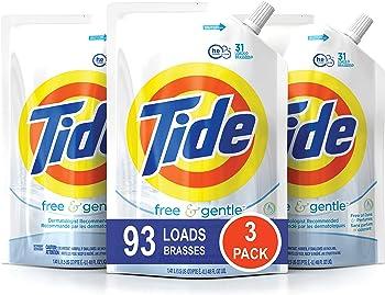 3-Pack Tide Smart Pouch HE Liquid Laundry Detergent