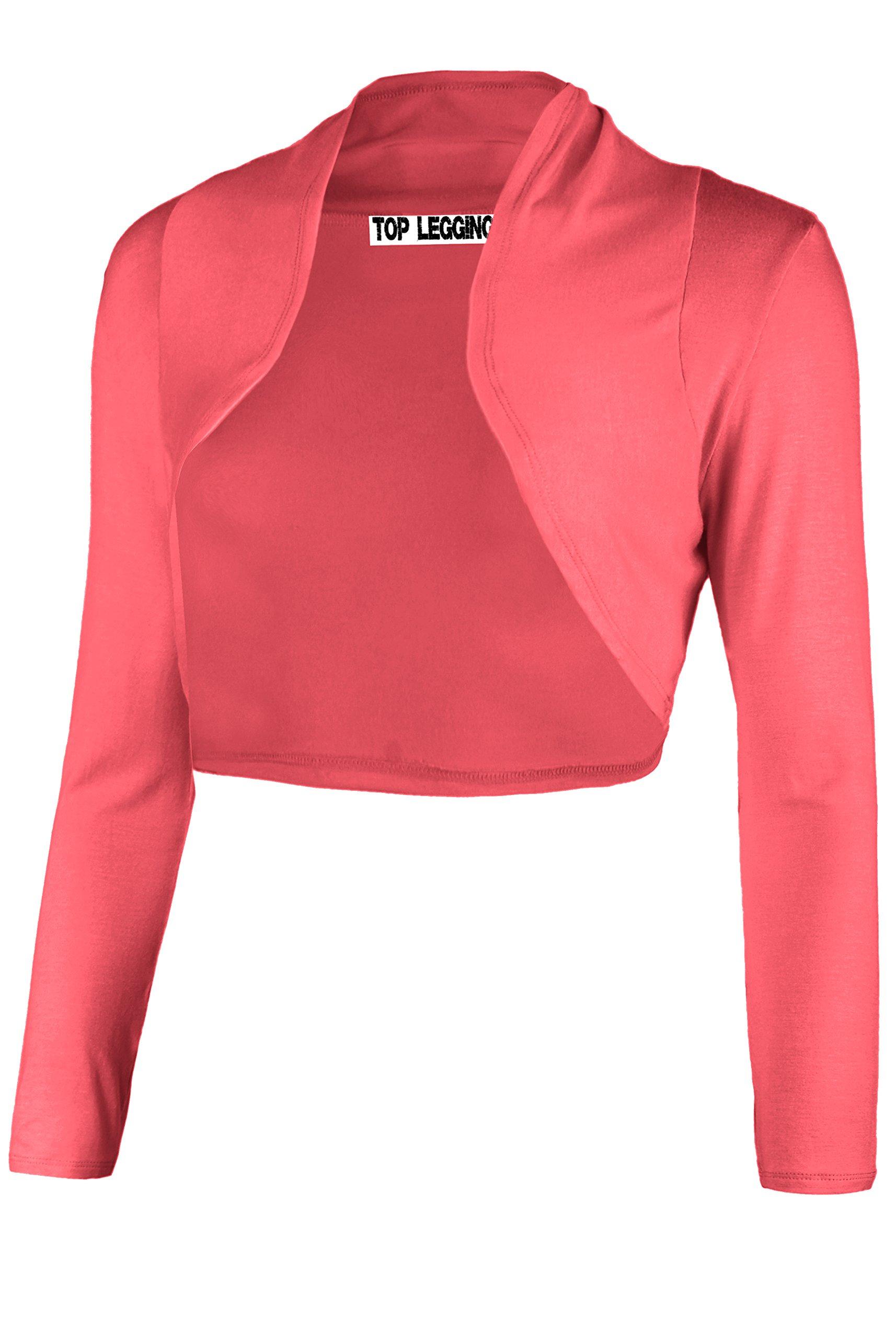 86f41467d8d Galleon - TL Women s Essential Comfy Versatile Bolero Shrug Cardigans In  Junior Plus Size 1S PARADISE PINK XL