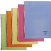 Clairefontaine 328116-ASS Linicolor Cahier spirale couverture polypro 180 pages A4 Seyès grands carreaux