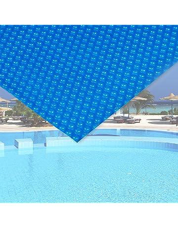 Cubierta Solar Piscina Azul isotérmica de burbujas Rectangular 5x8m Cobertor Protección