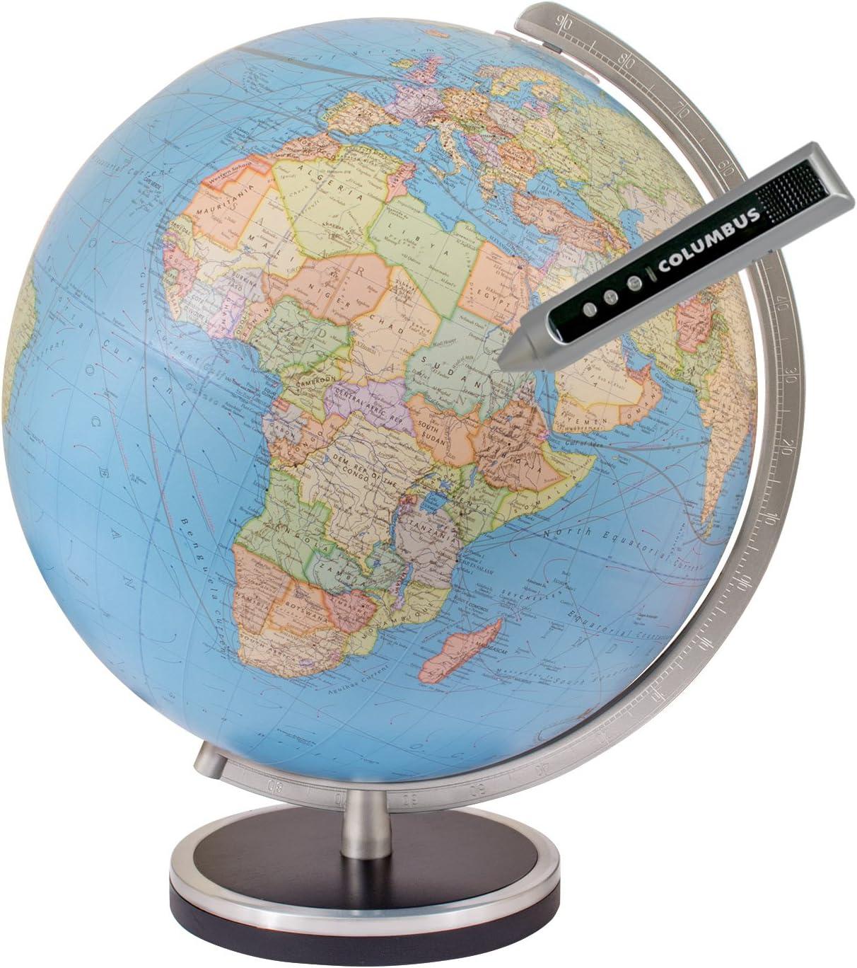Columbus Pathfinder 13 Inch Illuminated Interactive Desktop Globe