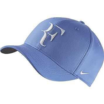 1fda8e79eba Nike Roger Federer ATP Master Tour French Open RF Hybrid Hat Cap Blue    White