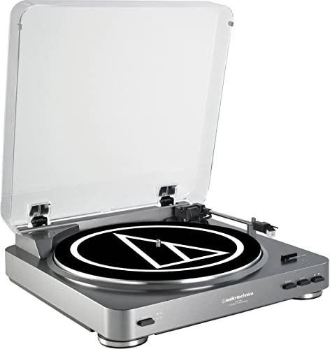 Audio Technica AT-LP60XGM Fully Automatic Belt-Drive Stereo Turntable – Gunmetal AT-LP60 Bundle