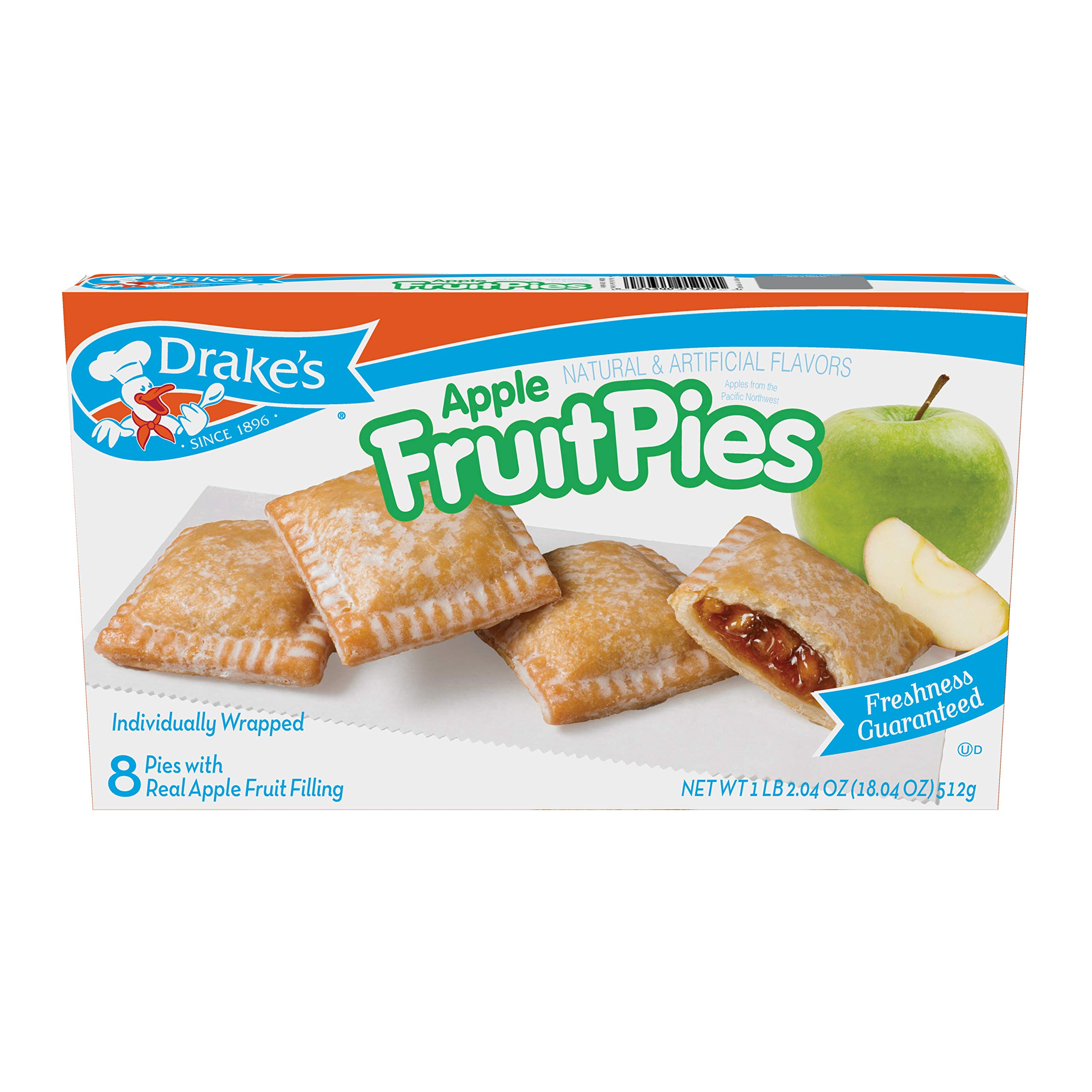 Drake's Apple Pies, 18.04 oz Family Pack, 8 Count by Drake's