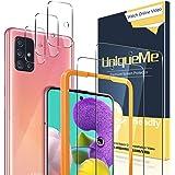 UniqueMe [2 Pack] Protector de Pantalla para Samsung Galaxy A51 4G / A51 5G + [3 Pack] Protector de Lente de cámara…