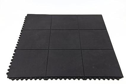 Amazon.com : Incstores Evolution Rubber Floor Tiles - Equipment Mats ...