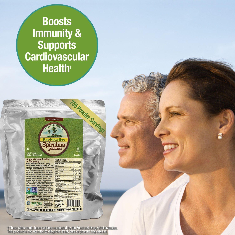 Pure Hawaiian Spirulina Powder 5 lb Bulk Bag – Boosts Energy and Supports Immunity – Vegan, Non GMO – Natural Superfood Grown in Hawaii by Nutrex Hawaii (Image #5)