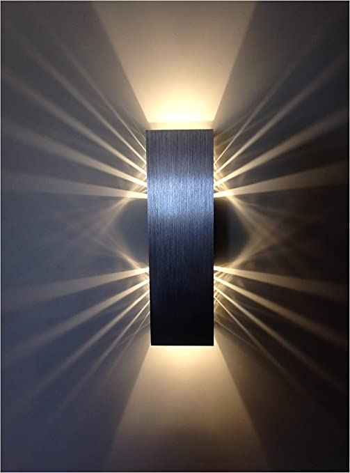Wandleuchte braun LED Metall Modern Warmweiß Schalter Dimmer