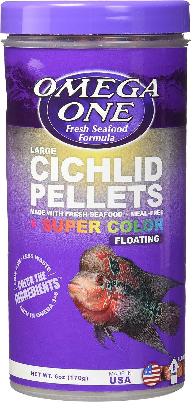 Omega One Super Color Floating Cichlid Pellets, 8mm Large Pellets