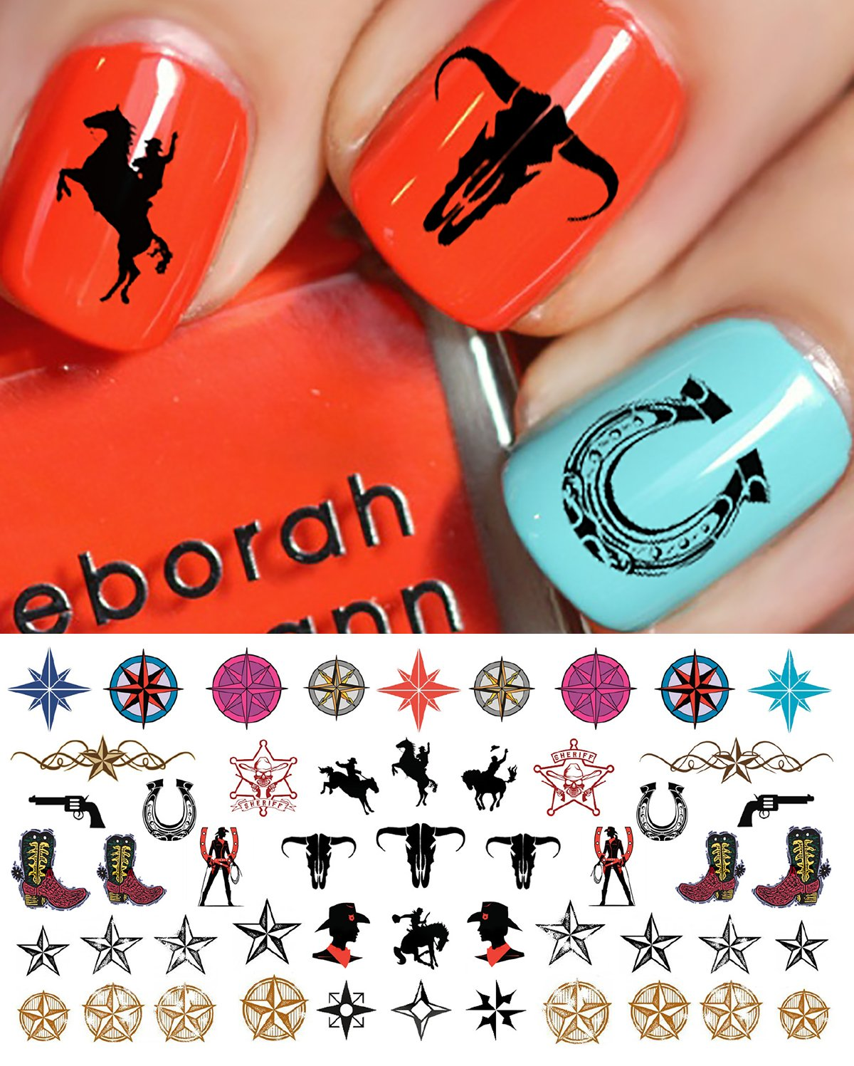 Amazon.com: Country & Western Nail Art Waterslide Decals Set #1 ...
