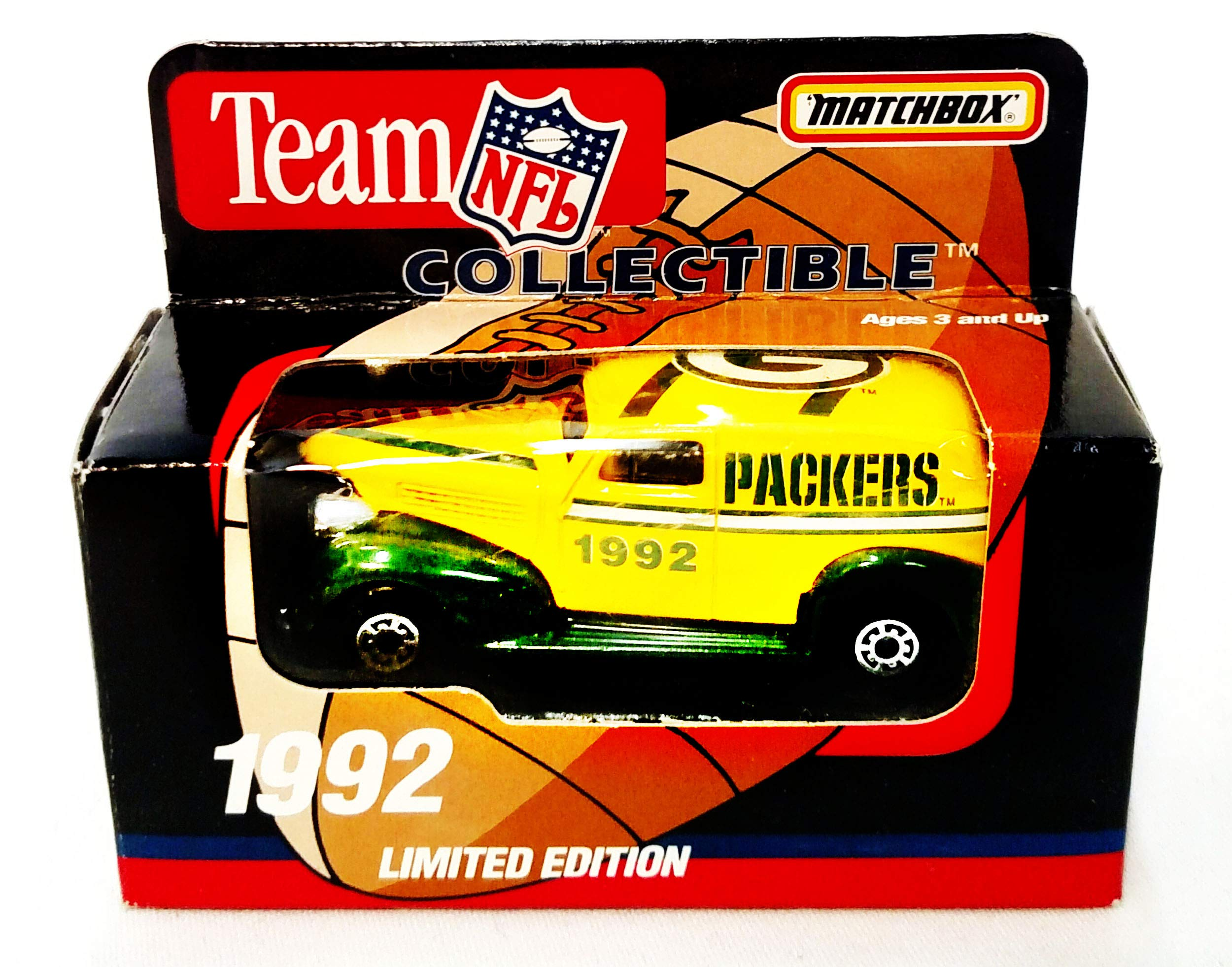 Green Bay Packers 1992 Limited Edition Matchbox Die Cast Collectible