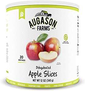 Augason Farms Dehydrated Apple Slices Certified Gluten Free Long Term Food Storage Large No. 10 Can