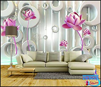 Buy SWASTIK Flower Design Beautiful 3D Wallpaper Non Woven 12 x