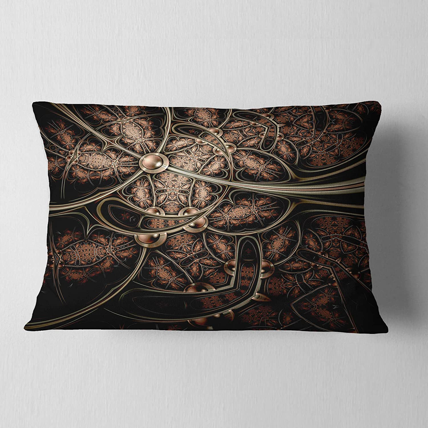 Designart CU7272-12-20 Light Purple Metallic Fabric Pattern Abstract Lumbar Cushion Cover for Living Room Sofa Throw Pillow 12 in in x 20 in