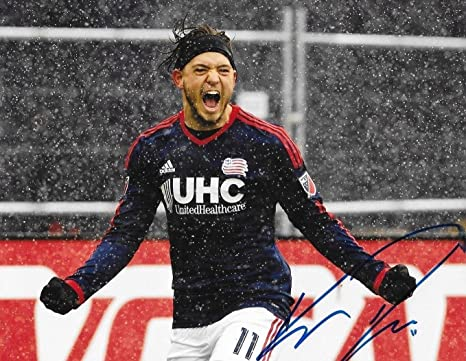 b370957137a Signed Kelyn Rowe Photo - 8x10 MLS 2 - Autographed Soccer Photos at ...