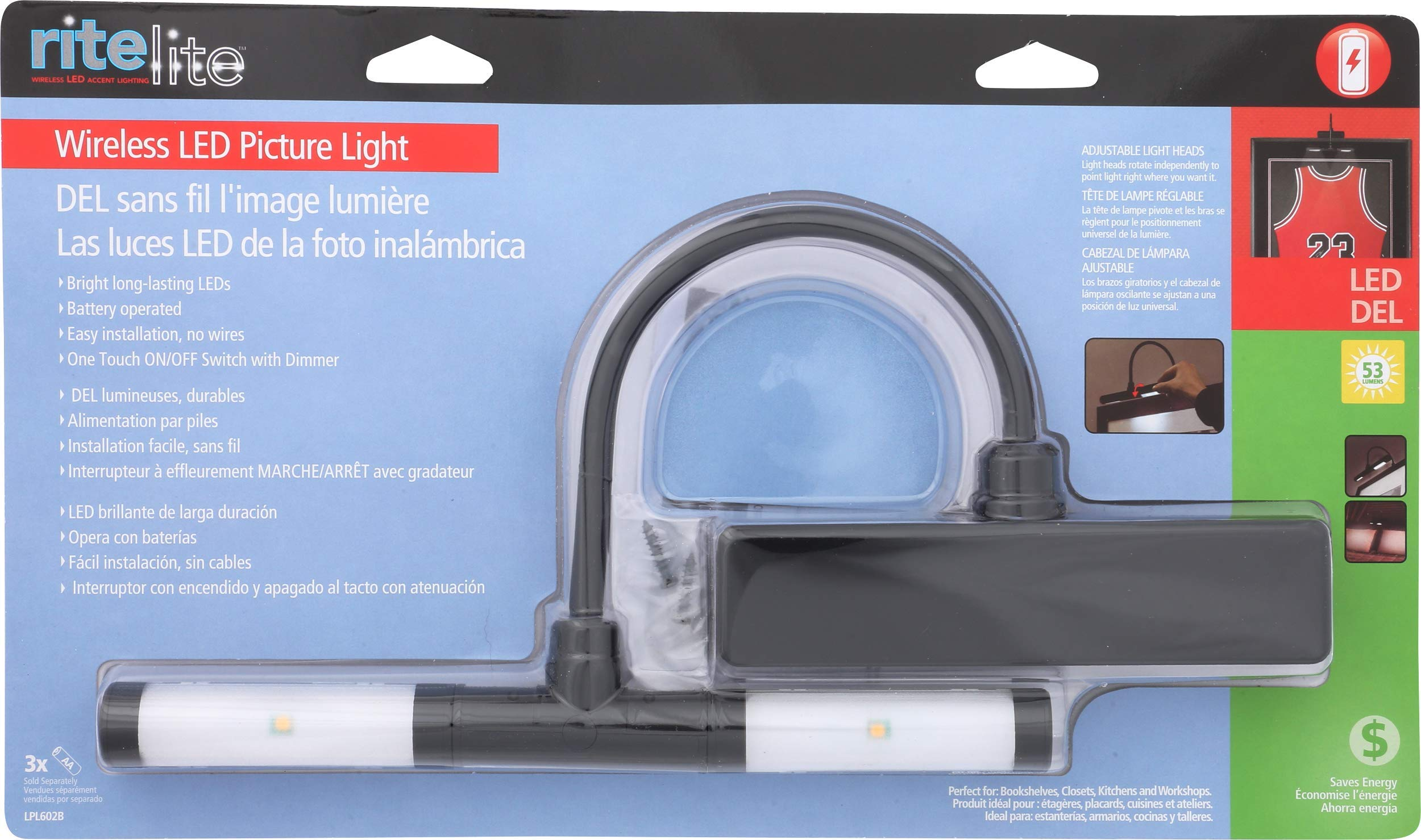 Rite Lite LPL602B battery operated Super Bright LED Picture Light by Rite Lite (Image #8)